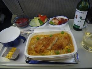 機内食のかつ重