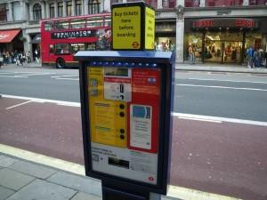 バスのチケット販売機